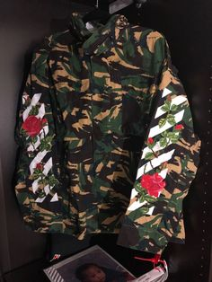 Off White Diagonal Rose Camo Jacket  fashion  clothing  shoes  accessories   mensclothing 365bbd2017