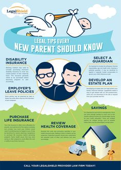 """INFO FOR NEW PARENTS ~~ """"Legal Tips Every New Parent Should Know"""" infograph"""