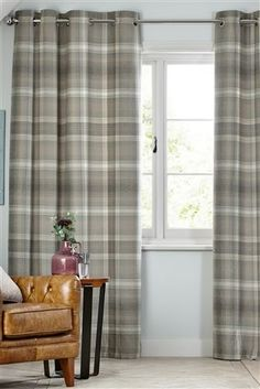 Buy Cosy Check Eyelet Lined Curtains From The Next UK Online Shop