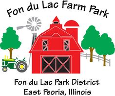 Fon du Lac Farm Park: offers children a unique glimpse of what 1920's farm life was like on a Central Illinois farm.  Enclosed within six acres of Neumann Park, this facility offers a variety of activities that let visitors experience a day on the farm. There are live farm animals to feed, a red barn to play in, and three ponds to enjoy. Farm Park includes a country kitchen museum, one room schoolhouse and silo slide.