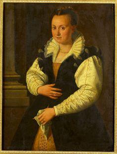 Title: Portret van een vrouw Creator: Toegeschreven aan: Allori, Alessandro Date of creation: 1607