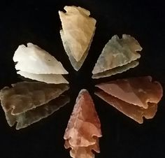 Lot of 6 Arrowheads Native American Indian by OldGLoriEstateSale