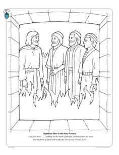 Shadrach meshach and abednego obeyed god 39 s commandments for Daniel and the fiery furnace coloring page