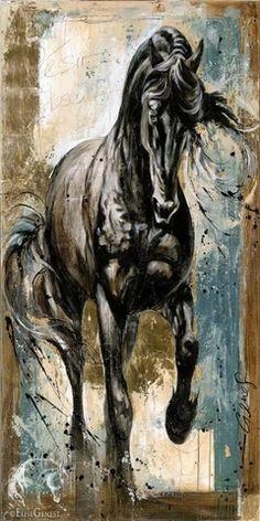 (1) Nordic Running Horse Mural on Canvas Art Painted Horses, Horse Mural, Horse Art, Diy Canvas Art, Canvas Art Prints, Animal Sculptures, Lion Sculpture, Art Kandinsky, Bedroom Canvas
