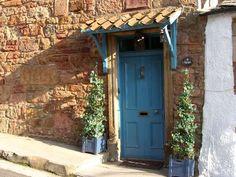 Doorway of cottage in Crail.