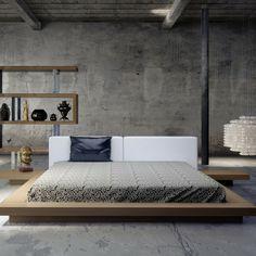 tapizado de cabecero junto a suelos grises