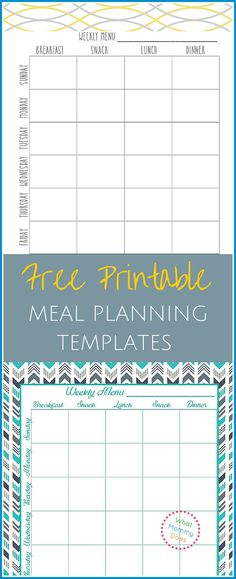373 best weekly meal planner images on Pinterest Food, Cooking