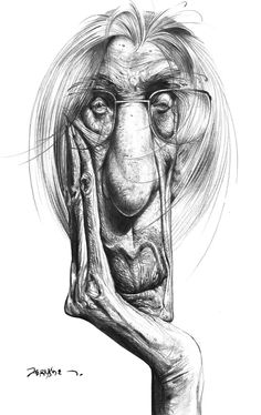 Lápis, papel e Fernandes: Caricaturas