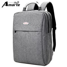 d07fb41114a53 Mężczyźni 15.6 cal laptopa plecak 2017 Nowa kobieta brezentowy plecak męska  torby szkolne kobiet notebook torba