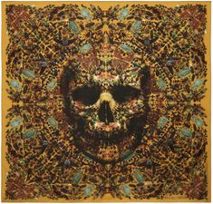 Full tityus big skull scarf - damien hirst + alexander mcqueen unveil scarf collection