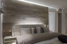 A headboard is an ideal accessory to fill out the appearance of your apartment bedroom. This headboard has a rather straightforward design. Headboards For Beds, Cool Headboards, Headboard Designs, Home, Interior, Bedroom Design, Wood Wall Headboard, Home Bedroom, Home Decor