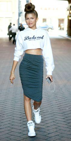 Zendaya seen shopping in downtown Los Angeles.