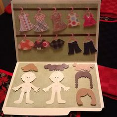 Cute way to have paper dolls! No tutorial, but great inspiration!
