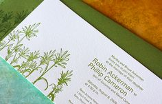 Indian Paintbrush Wedding Invitation by Dingbat Press, via Flickr