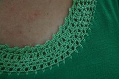 DIY Crochet neckline by Emily Lindberg, via Flickr