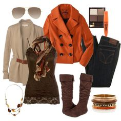 A fashion look from October 2012 featuring brown leather belt, brown peacoat and lace trim camisole. Browse and shop related looks. Girly Outfits, Cute Outfits, Fashion Outfits, Women's Fashion, Fashion Ideas, Casual Outfits, Dressy Attire, Thanksgiving Outfit, Fashion Essentials