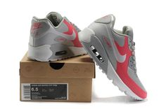 Nike Air Max 90 Hyperfuse Gray/Pink via MFancy Boutique. Click on the image to see more!