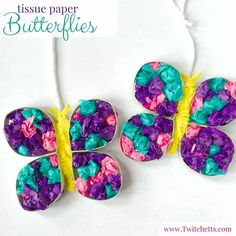 Easy Crafts For Kids, Summer Crafts, Toddler Crafts, Paper Butterflies, Beautiful Butterflies, Upcycled Crafts, Diy Crafts, Dementia Crafts, E Craft