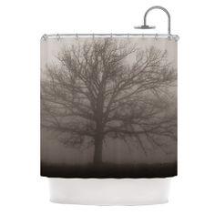 "Angie Turner ""Lonely Tree"" Dark Fog Shower Curtain | KESS InHouse"