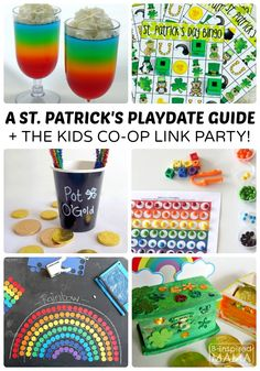 A Guide to the Best St. Patrick's Day Playdate for Kids + The Kids Co-Op Link Party at B-Inspired Mama