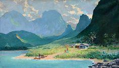 Family Fantasy (18)   by Peter Hayward (1905-1993) #PeterHayward #Oil #CedarStreetGalleries