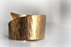 Ancient Greek Inspired brass Cuff-Gold Plated- Grecian Style Bracelet-Hammered-Minimal Design -Bronze. $39.00, via Etsy.