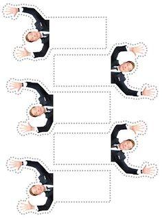 Benedict Cumberbatch Photobomb bookmark templates :)