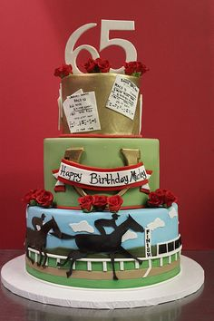 Horse Racing cake - For all your cake decorating supplies, please visit craftcompany.co.uk