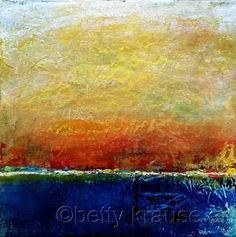 No. 4 by Betty Krause Art Abstract; landscape; mixed media; acrylics; oil pastels.