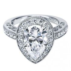 A girl can dream. Jumbo pear engagement ring. Gabriel&Co. ER5857W44JJ