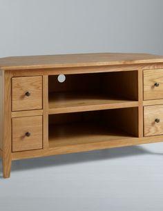 light oak corner tv stand