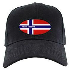 Norway Norge Flag Black Cap