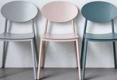 Aren't these chairs great? They're made from aluminium and, as you can see, come in three gorgeous, soft shades. It's the pink and grey for me although, looking at them again, I r…