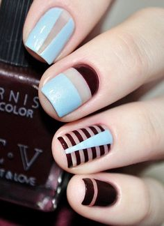 Top Latest Nail Art Designs on 25 Different Shapes and Types Love Nails, How To Do Nails, Pretty Nails, Fun Nails, Nail Art Designs, Latest Nail Art, Square Nails, Nail Arts, Manicure And Pedicure
