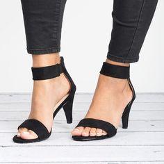 Ankle Strap Sandals - Black