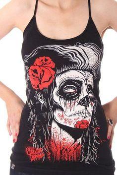 Liquor Brand Tank-Tops Dead Girl.Tattoo,Pin up,Oldschool,Rockabilly,Custom Style