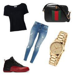 """""""Untitled #29"""" by morganthemotivater on Polyvore featuring Frame Denim, Ted Baker and Gucci"""
