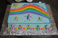 Color Run Cake
