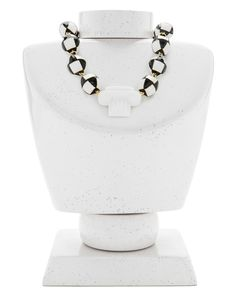 COLLARES Collar columna resina  BLANCO CERAMICA