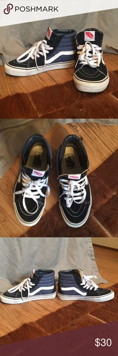 Vans Blue Vans Sk8 High top, size 7. Like new, worn a handful of times. Vans Shoes Athletic Shoes