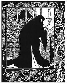 How Queen Guenever Made Her a Nun from 'Le Morte d'Arthur', by Aubrey Beardsley