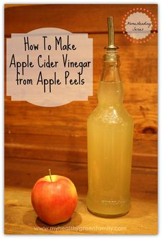 How to Make Apple Cider Vinegar from Apple Peelings. How to Make Apple Cider Vinegar from Apple Peelings. Make Apple Cider Vinegar, Peeling, Fermented Foods, Canning Recipes, Kombucha, Apple Recipes, Home Brewing, Diy Food, Food Ideas
