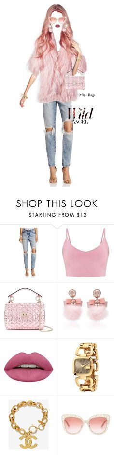 """""""Friday after hours."""" by shellygregory ❤ liked on Polyvore featuring Pistola, Valentino, Ranjana Khan, Huda Beauty, Gucci, Chanel, Dolce&Gabbana and minibags"""