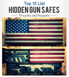 Hidden gun storage is a great way to add to the look of your home while keeping firearm security in the forefront, check out these cool safes we found. Hidden Gun Safe, Hidden Gun Storage, Hidden Weapons, Secret Hiding Places, Folding Furniture, Diy Furniture, Gun Rooms, Gun Cases, Secret Compartment