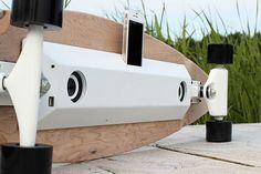 Tecnologia permite que usuário ande de skate e carregue celular