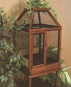 Chameleon cage? Vintage bird cage.