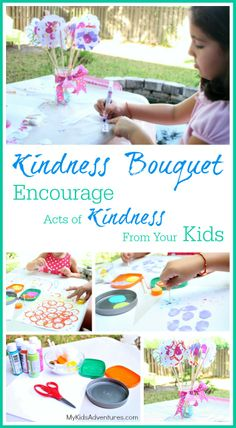 "Create an ""acts of kindness"" bouquet with your kids. It's the perfect gift for Mother's Day, a birthday, teacher appreciation or anytime someone special needs a lift. #MyKidsAdventures"