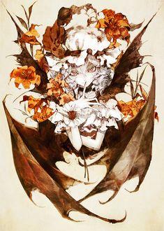 Remilia Scarlet~Touhou by Banpai Akira Scarlet, Vampire Kiss, Chica Anime Manga, The Villain, Pretty Art, Yandere, Anime Love, Manga Art, Akira