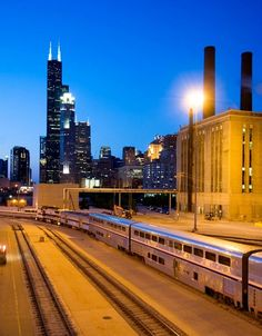 I love the sound of train whistles searing through the blackness of the pre-dawn quietness. A sound I long for.  Amtrak Chicago. Oh, how many times I've come and gone from K-Zooo.