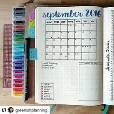 Inspiração de página mensal #Repost @greenishplanning with @repostapp ・・・ I'm a…